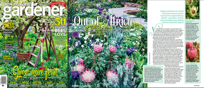 Joanna Kossak publication in New Zealand Gardener 09/2015 - Chealse Flower Show