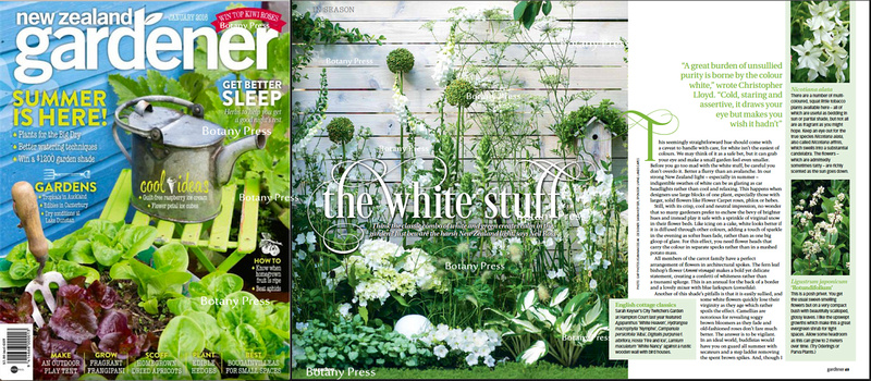 new zealand gardener january 2016 joanna kossak publication; Hampton Court show 2015