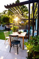 Small family garden in Ealing. Designed by Chris Harrington, All Photos © Joanna Kossak